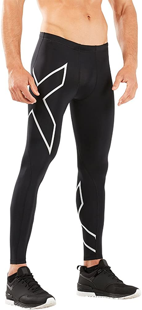 2XU Men's Compression Tights Weekly update Soldering Small Tall Silver Black