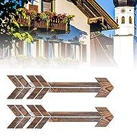 木製の矢の装飾、素朴な木製の矢の結婚式用品壁掛けの装飾壁の装飾壁の看板農家の家の装飾ファンのための装飾的な2PCS(brown, blue)