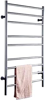 Luckwq Electric Towel Rack Stainless Steel Polished Radiator Bathroom with Switch Heating Towel Rod
