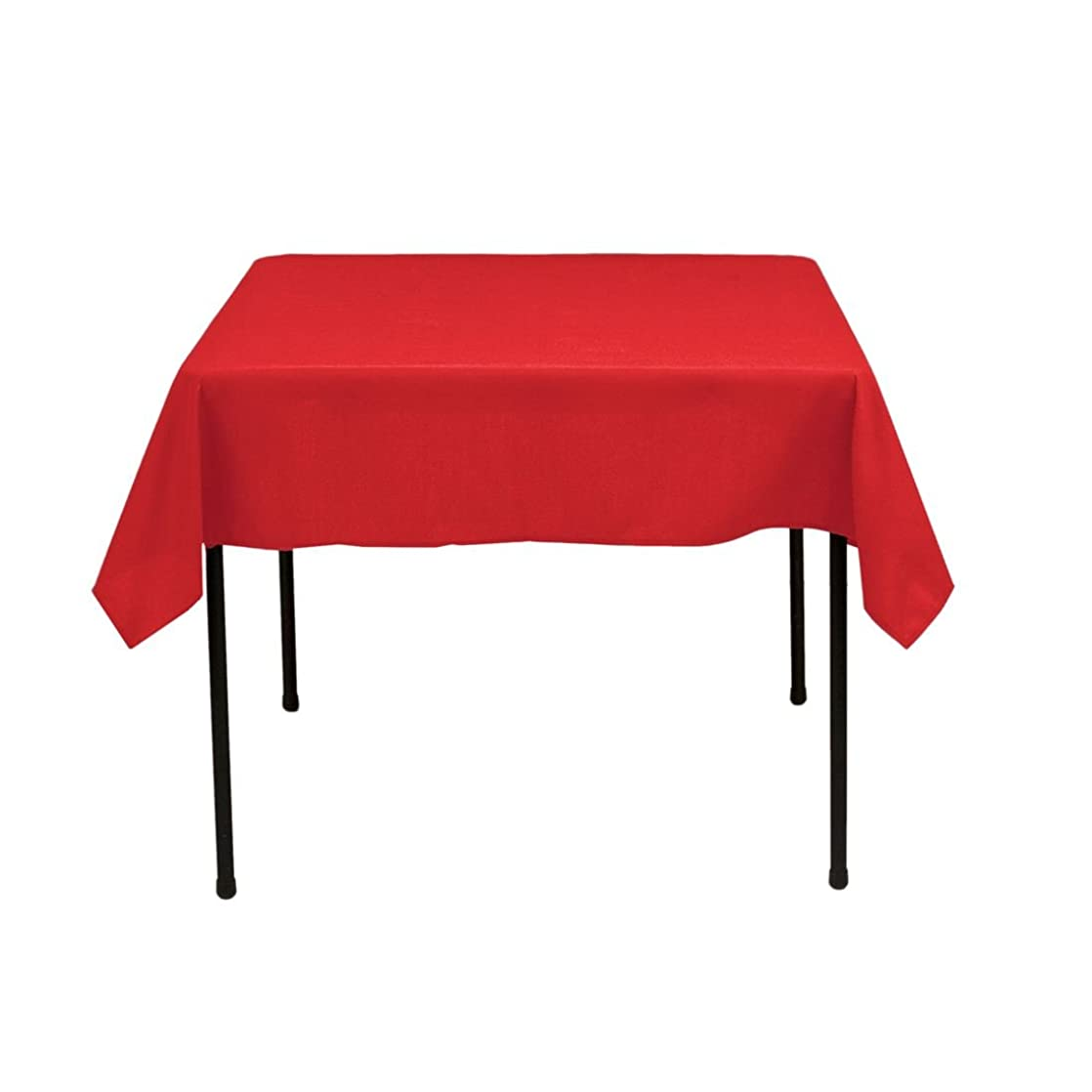Gee Di Moda Square Tablecloth - 52 x 52 Inch - Red Square Table Cloth for Square or Round Tables in Washable Polyester - Great for Buffet Table, Parties, Holiday Dinner, Wedding & More fovslpcj21470