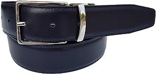 ESPERANTO Cintura uomo elegante e cerimonia double face 3,5 cm vera pelle (2 cinture in una sola)