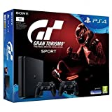 Sony Playstation 4 Slim 1TB + Gran Turismo Sport GT + 2x Dualshock Controllers Nero 1000 GB Wi-Fi