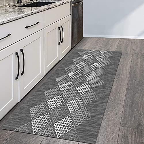 QIANGZI Alfombra para pasillo antideslizante, resistente a la suciedad para pasillo, piso de cocina, pasillo, pasillo y pasillo lavable (tamaño: 80 x 400 cm, color: A)