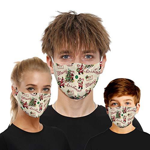 2pc Groß+1pc klein Staubdicht und atmungsaktivMultifunktionstuch Winddicht Atmungsaktiv Mundschutz Halstuch Schön Atmungsaktiv Sommerschal Kinder Jungen Mädchen Gesicht Maske zurück in die Schule