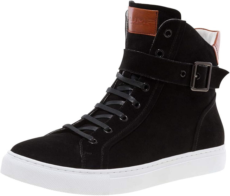 JUMP NEWYORK Bloke-Hi Black Leather Hi Top Sneaker