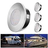 ALOVECO LED RV Lights, 12V Led Lights Dimmable Camper Interior Lights 3000K RV Lights Interior Waterproof 12 Volt LED Ceiling Lights Motorhome Sailboat Yacht Case of 4 Packs