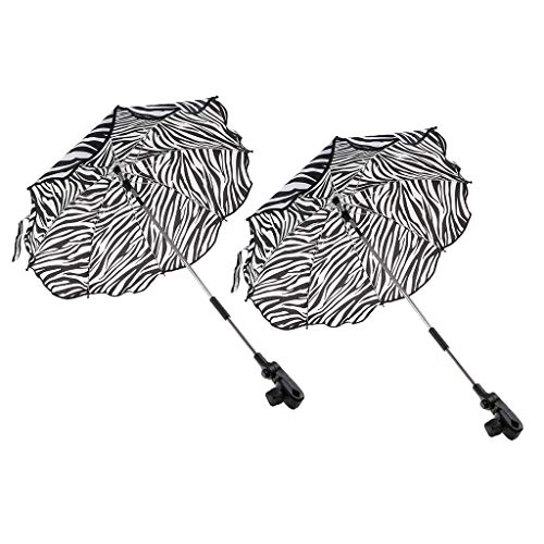 MAGIDEAL 2PCS DETACHABLE SUNSHADE FOLDING UMBRELLA STAND FOR KIDS BABY TROLLEY