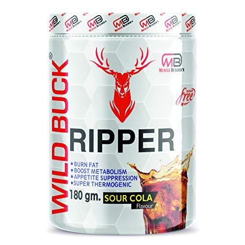 MB Muscle Builder Wild Buck Ripper Sugar-Free Fat Burner Weight Loss Supplement (180 g, Sour Cola)