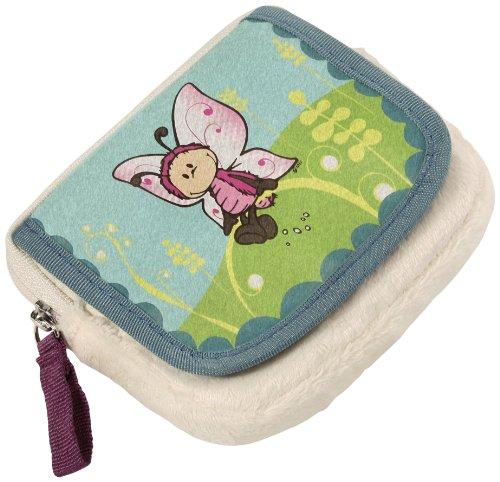 Nici 36584 - Geldbeutel Schmetterling, Plüsch, klein, 11 x 10 cm