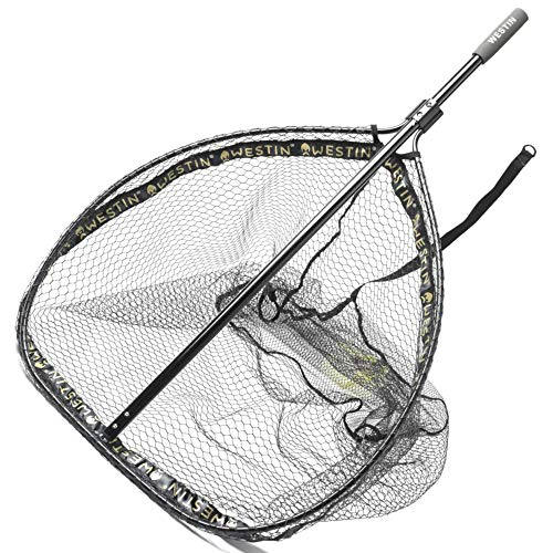 Westin W3 CR Landing Net XL 70x85x80cm - Raubfischkescher für Hechte & Zander, Hechtkescher, Unterfangkescher zum Raubfischangeln, Bootskescher