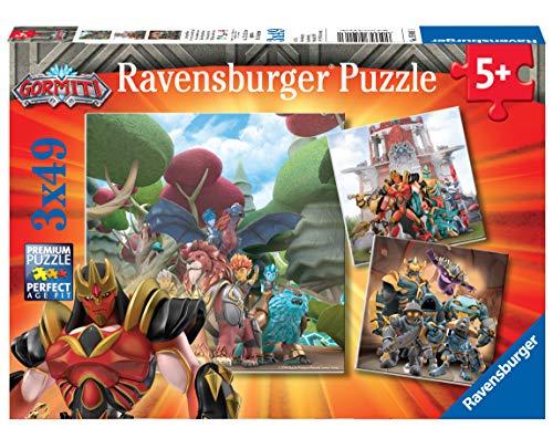 Ravensburger- Gormiti Puzzle per Bambini, Multicolore, 3 x 49 Pezzi, 05016