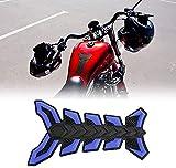 Pegatina para tanque - 1 pieza de pegatina de goma para depósito de gasolina para motocicleta, aceite, aceite, almohadilla protectora para todo tipo de motocicletas (azul)