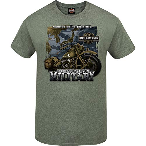 Harley-Davidson Military - Men's Military Green Graphic T-Shirt - Tour of Duty Pacific