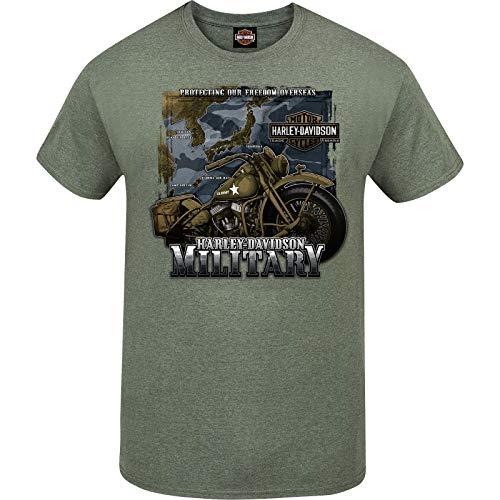 HARLEY-DAVIDSON Military – Maglietta da uomo con grafica verde militare – Tour of Duty Pacific - Verde - M