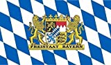 U24 Fahne Flagge Freistaat Bayern Bootsflagge Premiumqualität 30 x 45 cm