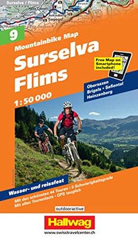 Mountainbike-Karte 09 Surselva - Flims 1 : 50.000 (Hallwag Mountainbike-Karten)