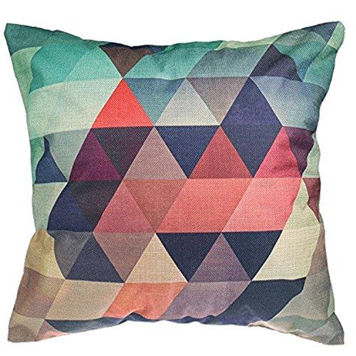 Luxbon Geometrische kussenhoezen 18x18 kleurrijke driehoek tegel ontwerp bank gooien kussensloop 45x45cm katoen linnen kussensloop Covers Home Decors