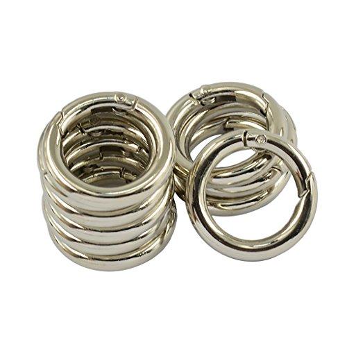 D DOLITY 10er Set Metallringe Zum Öffnen 17mm Durchmesser Innen Buch Ringe Binder Ringe Schlüsselringe Buchringe für Büro Schule Zuhause