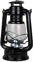 OSALADI 2PCS Kerosene lamp Vintage Classical Nostalgic Wrought Iron Portable Tent Camping lamp (Black)