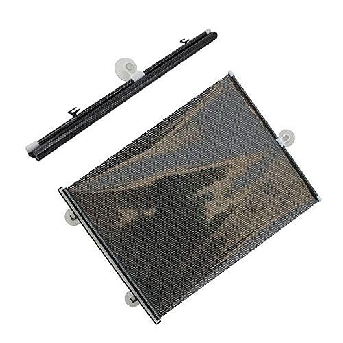 LITOSM Parasol Coche Universal Plegable Coche retráctil Sombrilla Sombrero Sunblind Sombrero Lateral Lateral Cortina Rodillo Rodillo UV Protector UV (Color : Black 40x125CM)