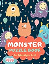 Monster Puzzle Book for Kids Ages 4-8: A Fun Kid Workbook Game for Learning, Coloring, Mazes, Sudoku and More! Best Holiday and Birthday Gift Idea