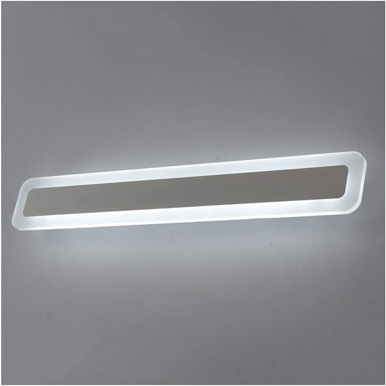 Badezimmerbeleuchtung Led Spiegel Scheinwerfer - Modern Minimalist Acryl Square Badezimmer Badezimmer Lampe Hotel Schlafzimmer Makeup Mirror Front Wall Lamp (Edition   Warm light-60cm)