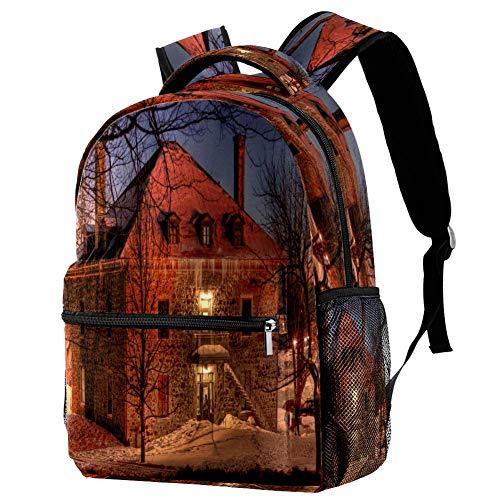 Nassau Bahamas Lighthouse Dawn Zaino Scuola Zaino Book Bag Casual Daypack per Viaggi, Motivo 7 (Multicolore) - bbackpacks004