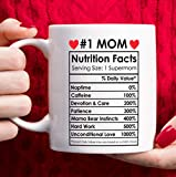 Mothers Day Gifts Mom Birthday Gifts from Daughter Son - #1 Mom Coffee Mug Christmas Gifts for Moms Grandma – White, 11oz