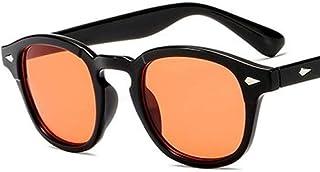 FRGTHYJ - FRGTHYJ Gafas Gafas de Sol Transparentes Retro Unisex Vintage Hombres Mujeres Gafas de Sol para Hombre Gafas de Sol de Colores Gafas de Sol Naranjas para Mujeres
