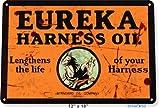 BDTS Letrero de Metal 8 x 12 Pulgadas con diseño de la estación de Gas Eureka Harne Oil Garage