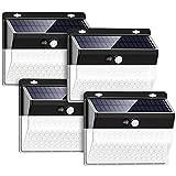YOMYM Luz Solar de Exterior, 4 Paquetes Luces Solares 262 LED/ 3 Modos...
