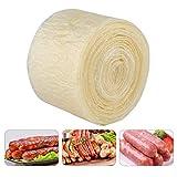 2-lagige essbare Trockenwursthülle für geschmackvolle hausgemachte Würste Schinken 8m x 50mm Fleisch Home Kitchen Dinning 2Pcs