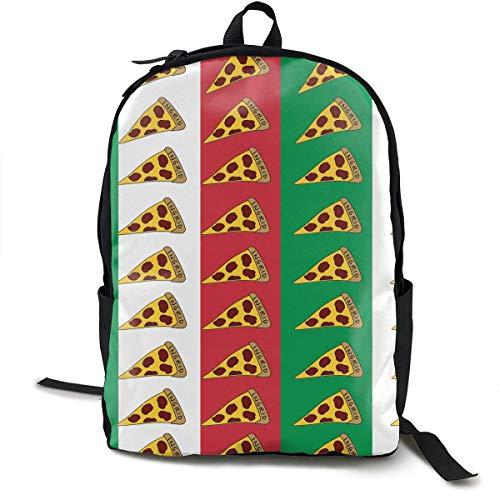 Mode Rucksack Große Kapazität Anti-Diebstahl-Mehrzweck-Handgepäck-Rucksack für Sportreisen Fahrrad - Vintage italienische Flagge Pizza Reisen Wandern & Camping Rucksack