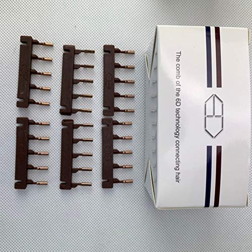 IMWANN ZXG 6D High-End-Haarverlängerungsmaschine Stecker High-End-Friseur-Metallwerkzeuge Nahtlose natürliche Friseurausrüstung (Color : Brown Clips 40 pcs)
