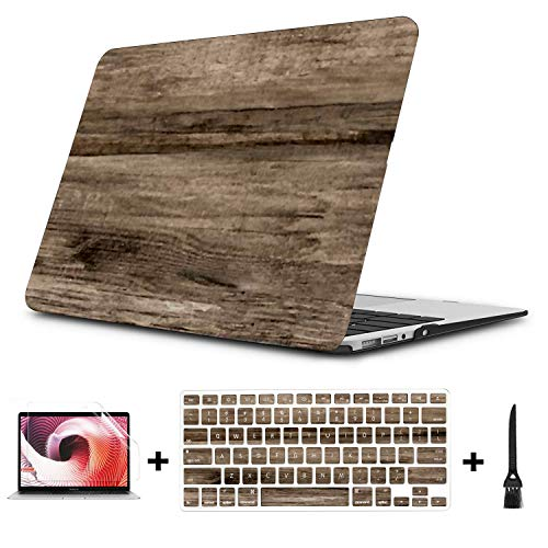 MacBook Pro Case Real Natural Wood Texture Surface Background MacBook Pro 15'(NO CD-ROM,with Retina Display) A1398 Plastic Case Keyboard Cover & Scree