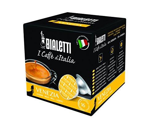 Bialetti 96080091/M Espresso Cápsulas Venezia, Aluminio, 16Unidades, Plata, 50x 40x 5cm