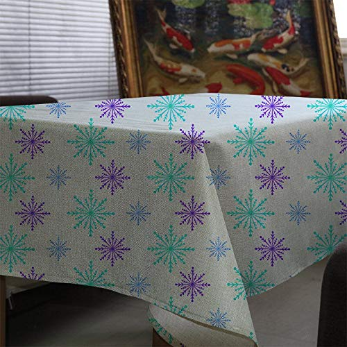 XXDD Table Christmas tablecloth watercolor plant flower tablecloth waterproof and dustproof home decoration tablecloth cover cloth A11 135x200cm