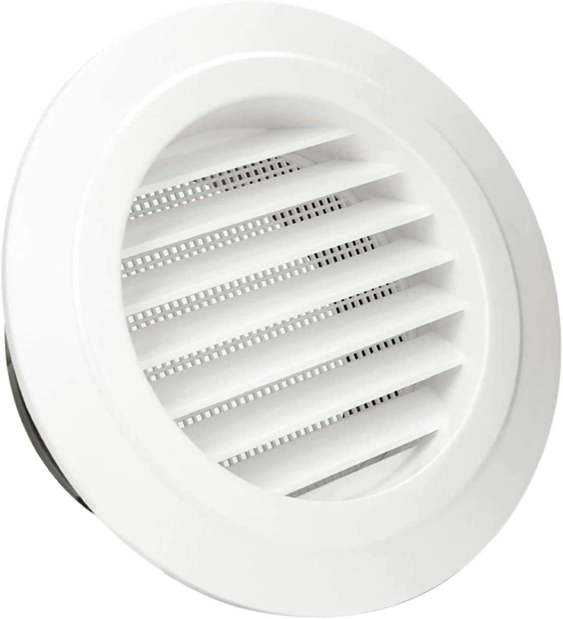 HG Power Rejilla de ventilación 125 mm, plástico ABS, rejilla de ventilación, rejilla de ventilación, Tapa Redonda de ventilación de Aire Rejilla de ventilación anti-insectos