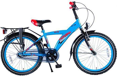 .Thombike City Kinderfahrrad Jungen 20 Zoll Shimano Nexus 3-Gang-Getriebe Gepäckträger Blau Rot 95{e1b11b7fe4df63249bad75baae1b22b9577ef33ff0ab2cad631165aa5c9c440c} Zusammengebaut