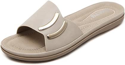 Flat Summer Sandals for Women Palm Leaf Beach Shoes