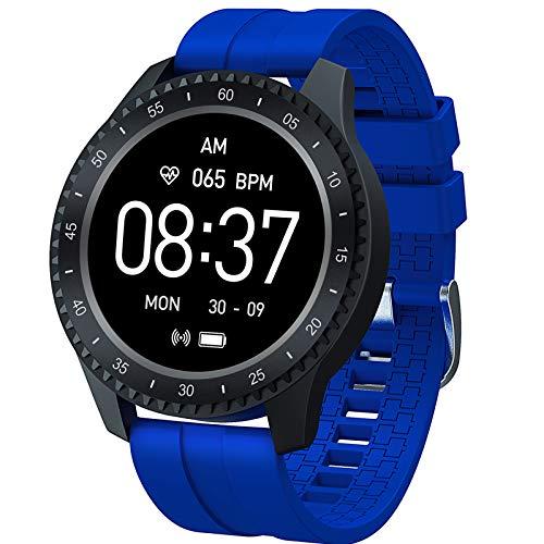 BNMY Smartwatch, Impermeable Reloj Inteligente con Cronómetro, Pulsera Actividad Inteligente para Deporte, Reloj De Fitness con Podómetro Smartwatch Mujer Hombre para Teléfono,Azul