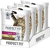 PERFECT FIT Adult 1+ – Trockenfutter für erwachsene Katzen ab 1 Jahr – Reich an Huhn – Unterstützt die Vitalität – 4 x 1,4 kg