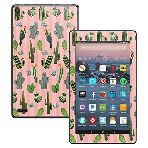 MightySkins Skin Compatible with Amazon Kindle Fire 7 (2017) - Cactus Garden | Protective, Durable, and Unique Vinyl Decal wrap Cover | Easy to Apply, Remove, and Change Styles | Made in The USA