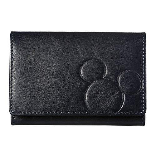 [Disney(ディズニー)] イタリアンレザー 本革 名刺入れ カード50枚収納 (インディゴ×ミッキー)