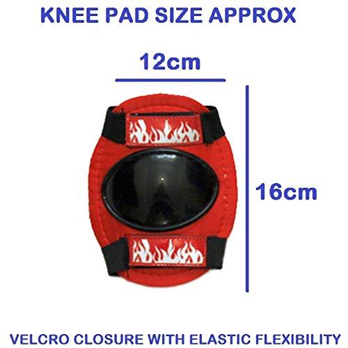 Sk8 Zone By Eurotrade Boys' HW218813 Red Black, Sk8 Zone Quad Kids Roller Boots Safety Pads Helmet Childrens Skate Set (Large 3-6 (35-38 EU))