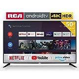 RCA RS50U2 Android TV (50 Pouces 4K Smart TV avec Google Assistant), Chromecast intégré, HDMI, USB, WiFi, Bluetooth, Triple Tuner, télécommande vocale