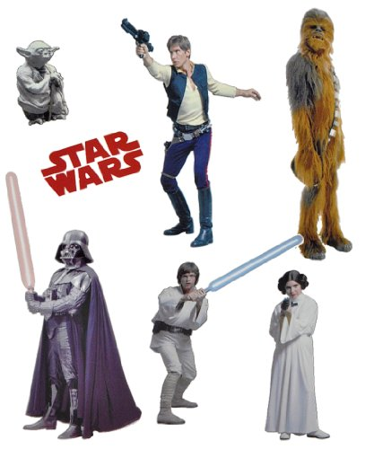 alles-meine.de GmbH 7 TLG. Set Fensterbild - Star Wars Darth Vader - Sticker Fenstersticker Aufkleber selbstklebend wiederverwendbar The Clone Krieg der Sterne
