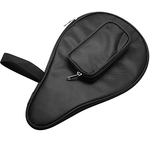 SelfTek Table Tennis Bat Bag Waterproof Ping Pong Paddle Bat Pouch with Ball Case