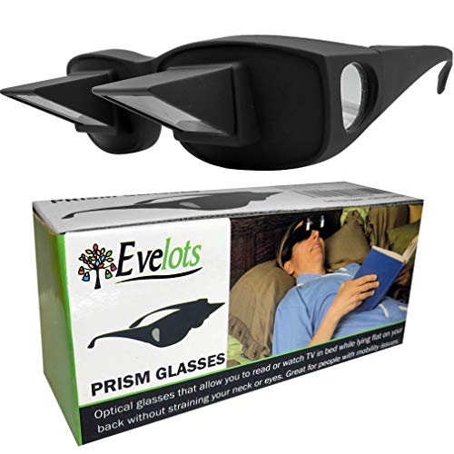 Evelots Prism Bed Glasses-Read/Watch TV Lying Down-Use Over Your...