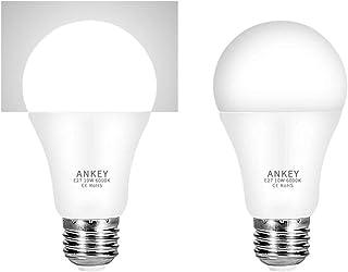 Bombilla LED sensor 10 W E27 bombillas con sensor crepuscular de luz blanco cálido 3000K/ blanco frío 6000K Auto On/Off para porche pasillo Garage-2 unidades (Bianco Freddo 10w)